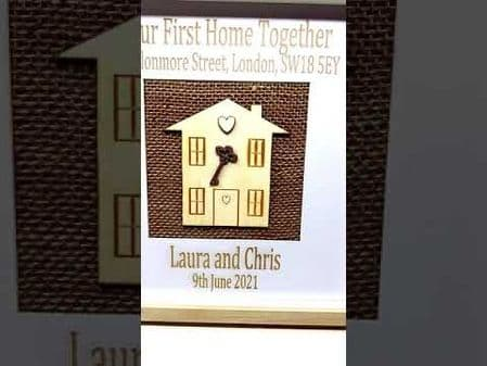 Our First Home Together Key Frame Box -  New Home Gift -